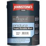 Eco-labelling - White Paint Johnstone's Trade Ecological Endura Super Durable Matt Cement Paint White 5L