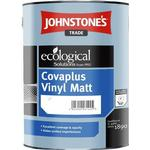 Eco-labelling - White Paint Johnstone's Trade Ecological Covaplus Vinyl Matt Wall Paint, Ceiling Paint White 1L
