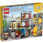 Plasti - Lego Creator 3-in-1 Lego Creator Townhouse Pet Shop & Café 31097