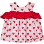 Ruffled Dresses - Sleeveless Children's Clothing Agatha Ruiz de la Prada Heart Ruffled Dress - Red (388987)