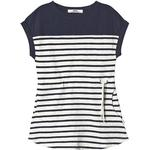T-shirt Dresses - Stripes Children's Clothing ebbe Kids Vita Tee Dress - Offwhite/Dark Navy