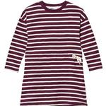 T-shirt Dresses - Stripes Children's Clothing ebbe Kids Maddy Dress - Dark Grape/Vanilla