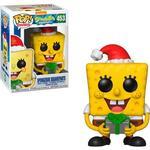 SpongeBob SquarePants - Figurines Funko Pop! Animation Spongebob Squarepants Santa Hat with Candy Can