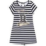 Everyday Dresses - Stripes Children's Clothing Mayoral Open Back Striped Dress - Navy Blue (29-06944-972)