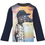 T-shirts - Press-Studs Children's Clothing Minymo T-shirt - Dark Navy (130997-7350)