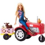Doll Vehicles - Fabric Barbie Doll & Tractor FRM18