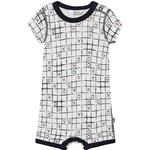 Logotype - Playsuits Children's Clothing Joha Tic-Tac-Toe Summer Romper - White (403705)