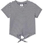 Stripes - T-shirts Children's Clothing Hootkid Stripe Tie Front Tee - Navy/White (389838)