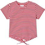 Stripes - T-shirts Children's Clothing Hootkid Stripe Tie Front Tee - Red (389792)