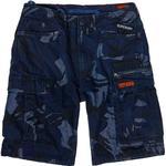 Men's Clothing Superdry Parachute Cargo Shorts - Indigo Outline Camo Badge