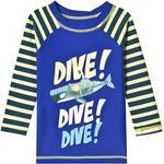 UV Shirt - Nylon Children's Clothing Hatley Animal Subs Long Sleeve Rashguard - Blue (S19ASK812)