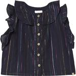 Blouses & Tunics - Buttons Children's Clothing Blune Dancing Queen Striped Blouse - Navy/Multicolore (414652)