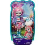 Mattel Enchantimals Saffi Swan Doll & Poise Figure FRH38