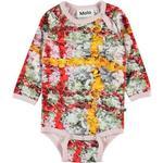 Multicolour - Bodysuits Children's Clothing Molo Fonda - Checkered Flower (4W19B204 4873)
