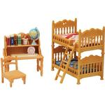 Doll-house Furniture - Plasti Sylvanian Families Children's Bedroom Set