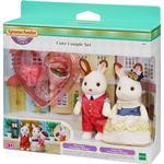 Dollhouse Accessories - Bunny Sylvanian Families Cute Couple Set