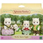 Dollhouse dolls - Plasti Sylvanian Families Woolly Alpaca Family