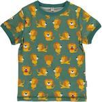 Green - T-shirts Children's Clothing Maxomorra Top SS - Lion