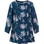 Everyday Dresses - Flowery Children's Clothing Minymo Dress - Blue Nights (120899-7840)