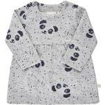 Sweatshirt Dresses - Girl Children's Clothing Minymo Sweat Dress - Grey Melange (111102-1230)