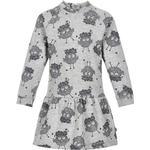 Everyday Dresses - Buttons Children's Clothing Minymo Dress - Grey Melange (121096-1230)
