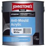 Johnstone's Trade Anti-Mould Acrylic Wall Paint, Ceiling Paint White 2.5L