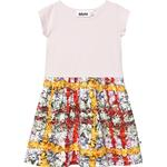 Ruffled Dresses - 110/116 Children's Clothing Molo Carla - Checked Flowers (2W19E110 4873)