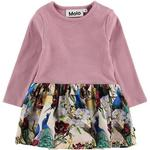 Ruffled Dresses - Pink Children's Clothing Molo Carel - Oriental Peacocks (4W19E210 4874)