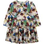 Ruffled Dresses - 110/116 Children's Clothing Molo Chia - Oriental Peacocks (2W19E216 4874)