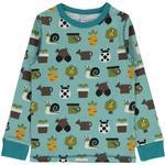 Blue - Sweatshirts Children's Clothing Maxomorra Top LS - Garden