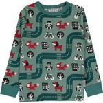 Sweatshirts - 9-12M Children's Clothing Maxomorra Top LS - Big City