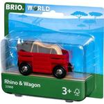 Toy Vehicle Accessories - FSC Brio Rhino & Wagon 33968