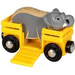 Train Accessories - Wood Brio Elephant & Wagon 33969