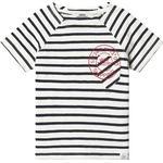 Stripes - T-shirts Children's Clothing ebbe Kids Vallmo Tee - Off White/Dark Navy (408506)