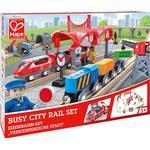 Toy Train Hape Busy City Rail Set