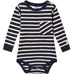 Stripes - Bodysuits Children's Clothing ebbe Kids Milian Bodystocking - Navy/Sand (505208)