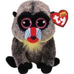 Soft Toys - Monkey TY Beanie Boo Wasabi Mandrill Baboon 15cm