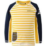 Children's Clothing price comparison Didriksons Surf Kid's Long Sleeve UV Top - Yellow Simple Stripe (502471-944)