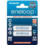 White - Rechargeable Standard Batteries Panasonic BK-3MCCE/2BE Compatible 2-pack