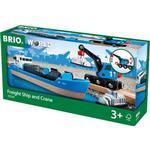 FSC Toys Brio Freight Ship and Crane 33534