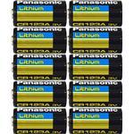 CR123A - Camera Batteries Panasonic CR123A 10-pack