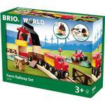 Toy Train - Wood Brio Farm Railway Set 33719