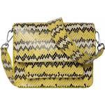 Shoulder Bag Hvisk Cayman Snake Pocket - Yellow