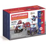 Construction Kit - Police Magformers Amazing Police & Rescue Set 26pcs