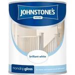 Johnstones Non Drip Gloss Wood Paint, Metal Paint Black 0.75L