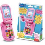 Interactive Toy Phones - Plasti Peppa Pig Peppa's Flip & Learn Phone