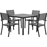 Beliani Prato Dining Group, 1 Table inkcl. 4 Chairs