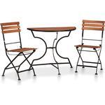 Café Group Outdoor Furniture vidaXL 44392 Café Group, 1 Table inkcl. 2 Chairs