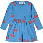 Everyday Dresses - 18-24M Children's Clothing Mini Rodini Cherry Long Sleeve Dress - Blue (1975012360)