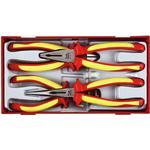 Flat Pliers Teng Tools TTV440 Combination Plier, Nipper, Stripper Plier, Flat Plier Set 4-parts